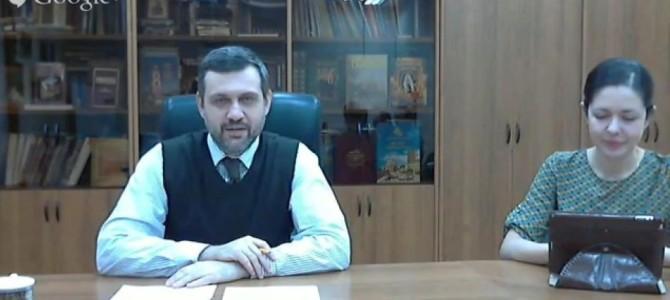 Руководитель информационного отдела Волгодонской епархии принял участие в Интернет-конференции с главой Синодального отдела Русской Православной Церкви Владимиром Романовичем Легойдой
